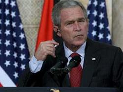 Başkan Bushun etekleri tutuştu!