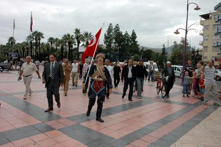 Aslan Efe Şehit ve Gazilere yürüyor