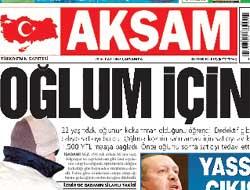 Akşam gazetesinde deprem