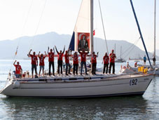 Cumhuriyet Bayramını denizde kutladılar
