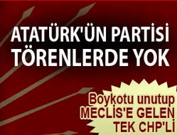 Atatürkün partisi törenlerde yok