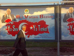 Afişe en başta MHP karşı çıktı.