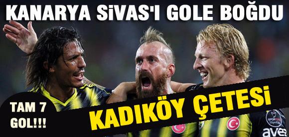 Fenerbahçe Sivası Gole Boğdu