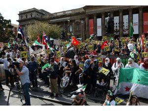 Avustralyada Suriyedeki katliamlar protesto edildi