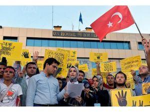 "Birleşmiş Sivillerden ""BM"" protestosu"
