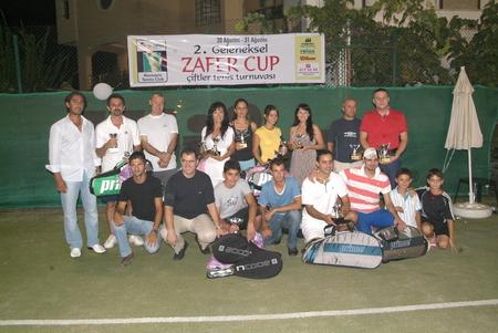 Zafer Cup Çiftler turnuvası sonuçlandı