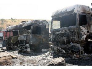 Duhokta 20 Türk tırı yandı