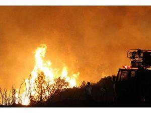 Alanyada köy yangını