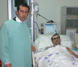 Yılmaz'dan Türkmen yaralılara ziyaret