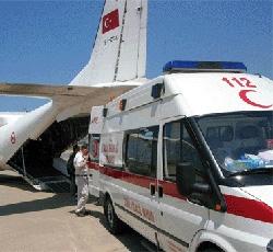 Gazzeli yaralılar Türkiyeye getirildi