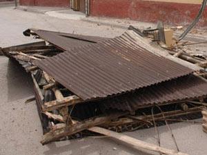 Muğla Devlet Hastanesinin çatısı uçtu