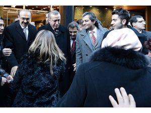 Erdoğan Türk vatandaşlarıyla sohbet etti