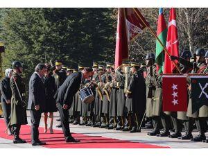 Aliyev Çankaya Köşkünde törenle karşılandı