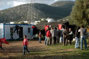 Bodrumda seçim çadırı kuruldu