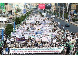 Yemende katliamlar protesto edildi