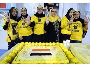 Mısırlılar ABDde darbeyi protesto toplantısı düzenledi
