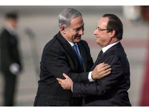 Hollande 7 bakan ve 200 kişilik heyetle İsrailde