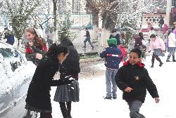 Muğlada Kar Yağışı Hayatı