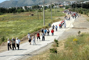 Akdeniz'den Ege'ye dostluk yürüyüşü