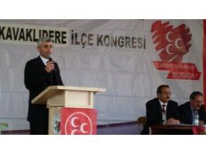 Kavaklıdere MHP İlçe Başkanlığa Ümit Alper tekrar seçildi