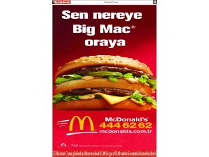 Sen nereye Big mac oraya