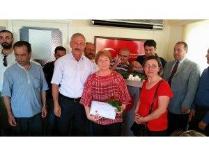 MHP'den Partililerine teşekkür belgesi