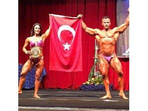 Marmarisli çift, altın madalyayla ülkeyi gururlandırdı