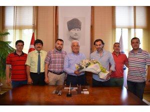 Muğlaspor Tam Kadro Başkan Gürün'ü Ziyaret Etti