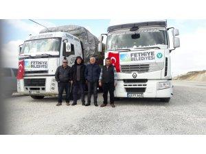 Belediye'nin yardım tırları Türkmenlere ulaştı