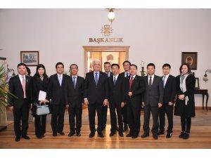 Çin Halk Cumhuriyeti'nden Heyet Başkan Gürün'ü Ziyaret Etti