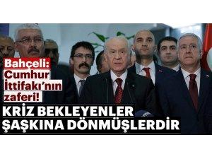 Devlet Bahçeli: Cumhur İttifakı Türkiyenin teminatıdır.