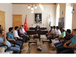 İnşaat Mühendisleri Odası'ndan Başkan Gürün'e Ziyaret