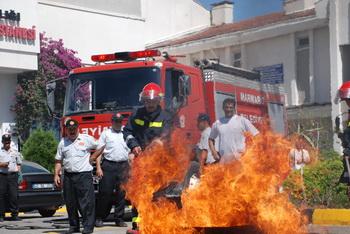 Devlet Hastanesi'nde yangın tatbikatı yapıldı