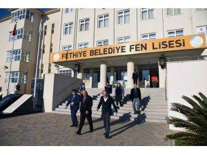 Başkan Saatcı, Fen Lisesi Müdürü Sertkaya'yı ziyaret etti