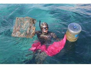 Akyarlarda deniz dibi temizliği