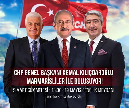 Kılıçdaroğlu, Marmarise geliyor