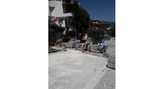 Armutalan sokakları yenilendi