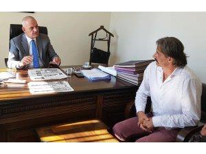 Gazetecilerden Kaymakam Aksoya Hayırlı Olsun Ziyareti