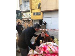 Feyzioğlu deprem bölgesinde