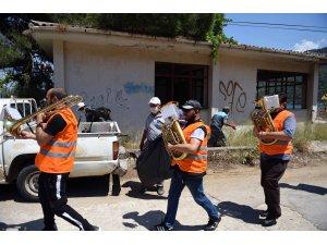 Fethiye Belediyesi Bandolu çevre temizliği