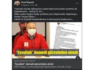Kızılay Muğla şube başkanı Yusuf Kayacık Görevden Alındı!