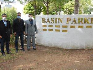 Basın kurumlarından Basın Parkı'na ziyaret