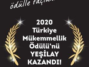 Yeşilay, çalışmalarını Türkiye Mükemmellik Ödülü ile taçlandırdı