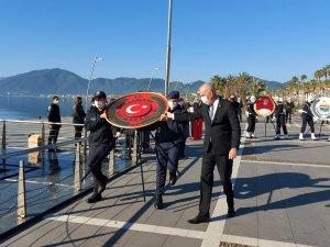 Atatürk'ün Marmaris'e gelişinin 86'nci yılı törenle kutlandı