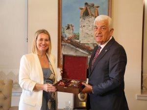 Hırvatistan Başkonsolusu'ndan Başkan Gürün'e Ziyaret