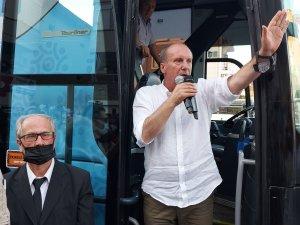 Memleket Partisi Genel Başkanı Muharrem İnce, partisinin Marmaris İlçe Başkanlığının açılışını yaptı