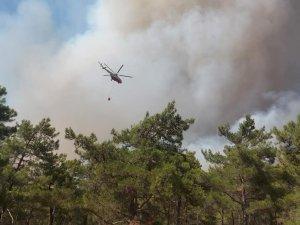 Marmaris'teki Orman Yangını Sürüyor