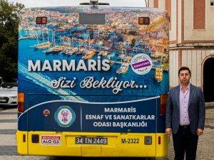 ESNAF ODASI BAŞKANI MEHMET AYYILDIZ, TANITIM ÇALIŞMALARI İÇİN İSTANBUL'A ÇIKARMA YAPTI