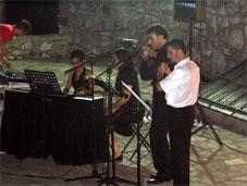 Marmaris kalesinde flüt konseri