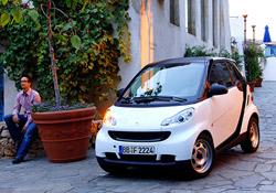 Elektrikli otomobil Smart hizmetinizde